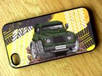 Koolart TYRE TRAX 4x4 Design For Green Land Rover Defender Hard Case Cover Fits Apple iPhone 4 & 4s